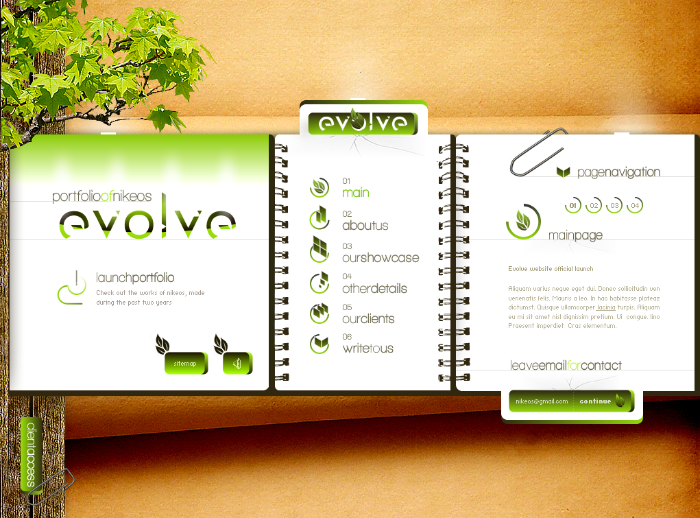 evolve_website_V2_by_Nikeos
