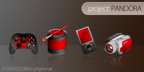 project__PANDORA_dock_icons_by_mikebeecham