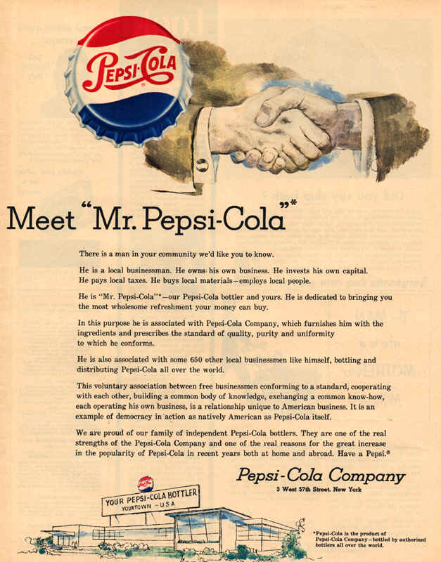 the history of the pepsi cola industry Pepsi cola is one of the most recognizable products in the world today, almost as famous for its commercials as for its never-ending battle with rival soft drink coca-cola from its humble origins more than 125 years ago in a north carolina pharmacy, pepsi has grown into a product available in.