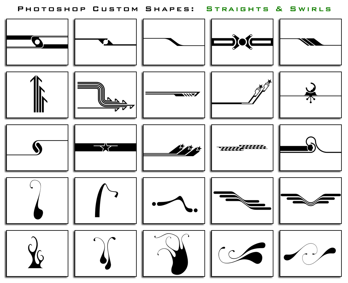 1000 Free Photoshop Custom Shapes In 40 Sets Designbeep