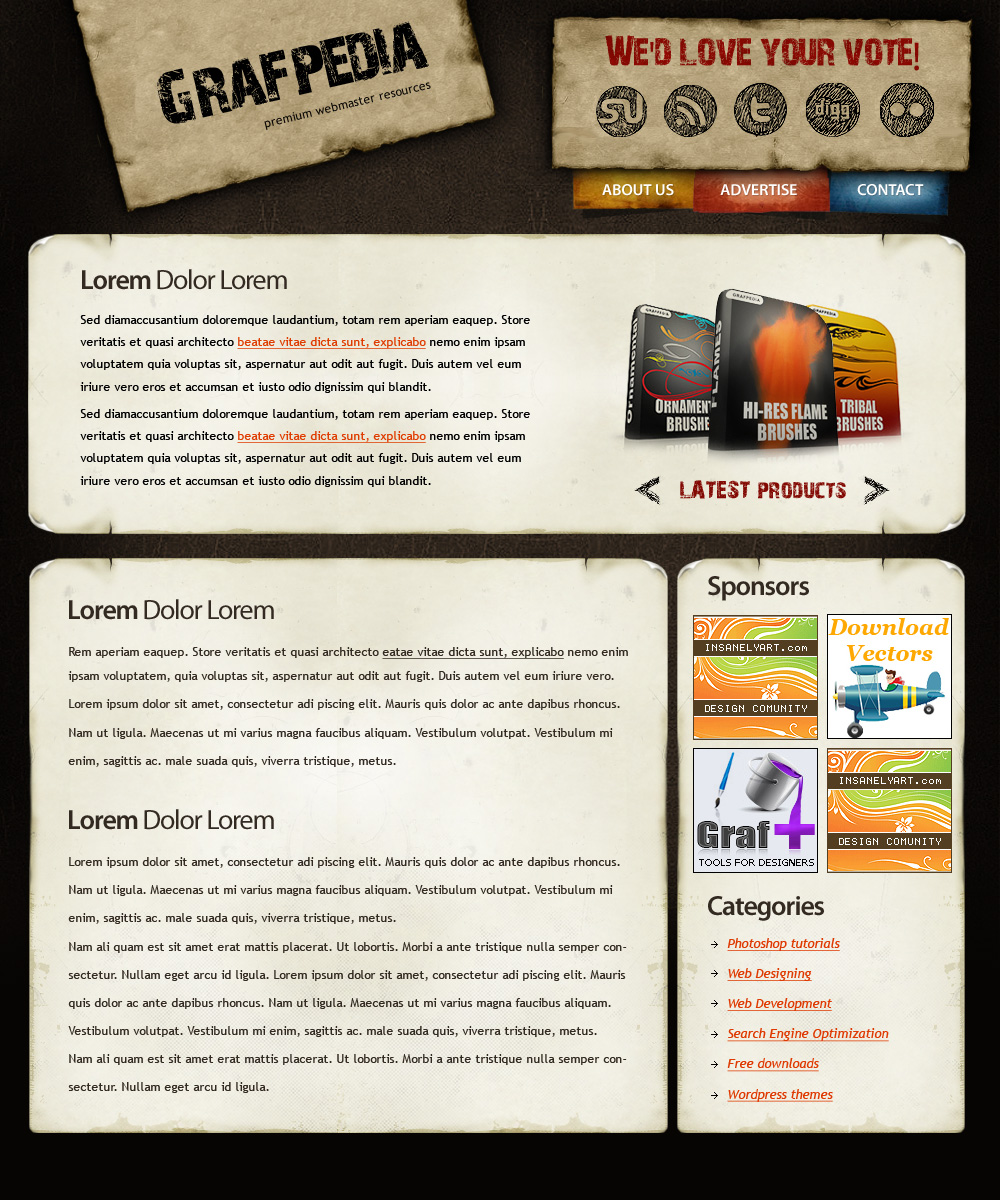 37 inspirational and detailed wordpress theme design tutorials 4 baditri Image collections