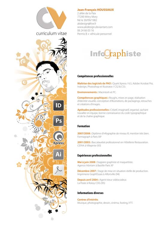 54 impressive and well designed resume examples for inspiration - Artist Resume Sample