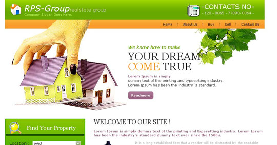 45 free and high quality css xhtml business website templates