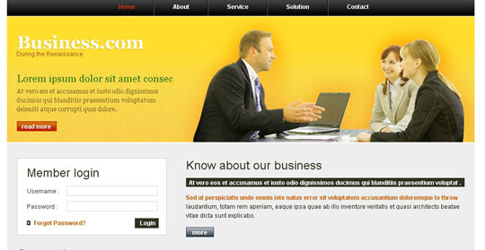 Free Web Page Templates. free website templates page 1 of 29 total ...