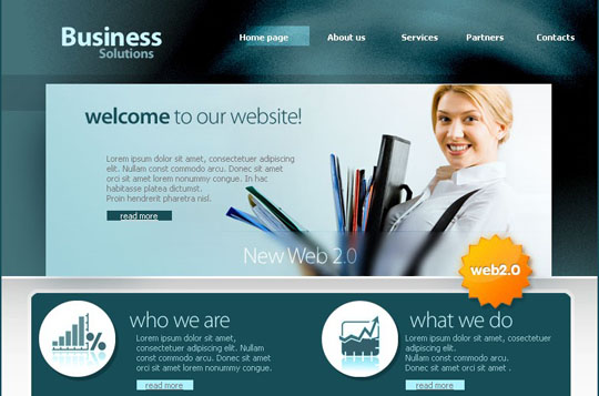 45 free and high quality cssxhtml business website templates business solutions preview download source fbccfo Gallery