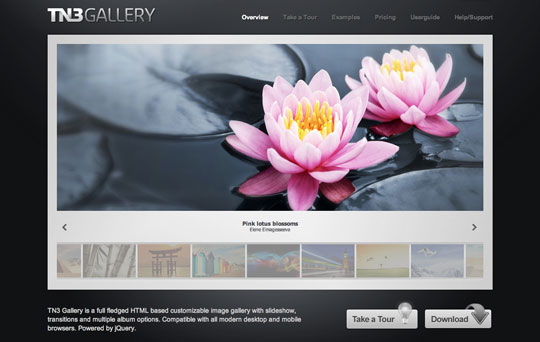 20 (More) Fresh jQuery Image Gallery/Slider Plugins and