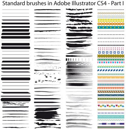 Collection of Free Adobe Illustrator Brushes in 38 Sets | Designbeep