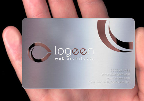 22.metal business card