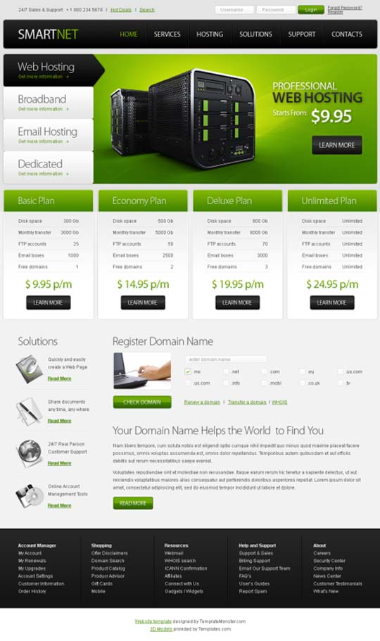 60 modern and professional looking yet free xhtml css website