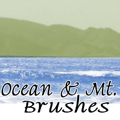 free photoshop mountain brushes