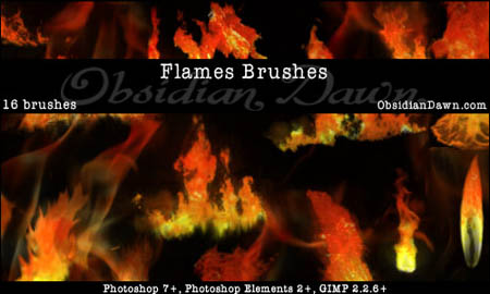 1.photoshop fire brushes