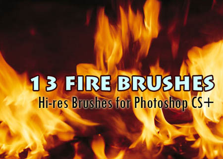 photoshop fire brushes