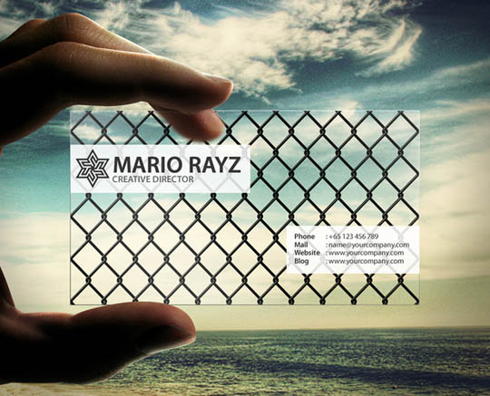 35 impressive examples of transparent and waterproof business cards transparent and waterproof business cards reheart Image collections