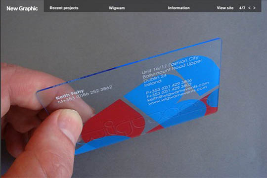 transparent and waterproof business cards - Waterproof Business Cards