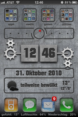 1.iphone 4 themes