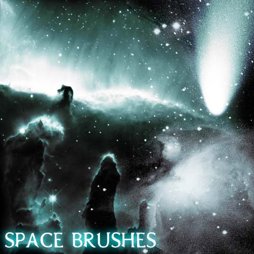 1.photoshop space brushes