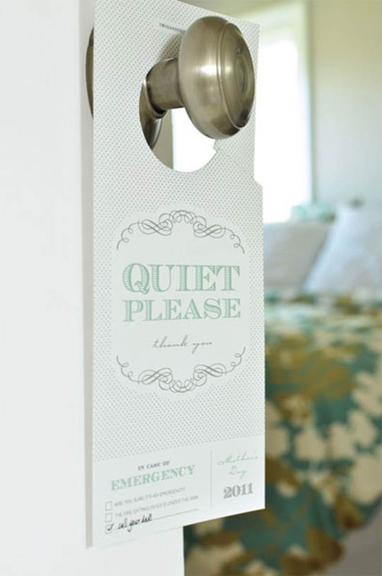 Showcase Of Creatively Designed Door Hangers Designbeep
