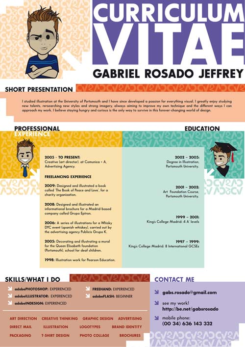 creative resume design