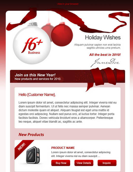 christmas e mail template