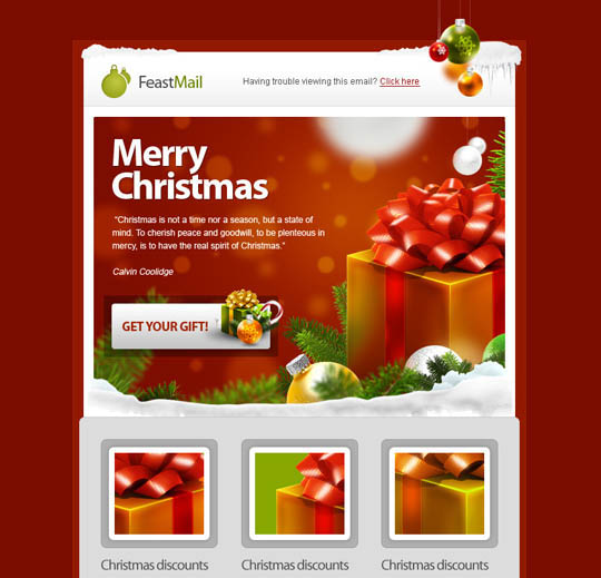 6 Killer Holiday Email Templates