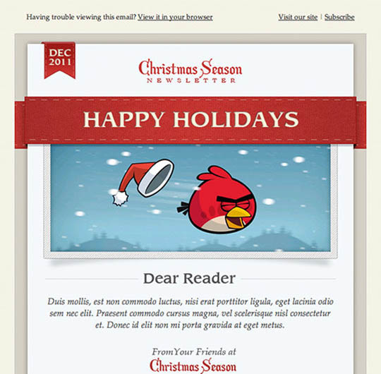 christmas e-mail template