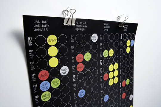 Unusual Calendar Design : Cool and unique calendars for year designbeep