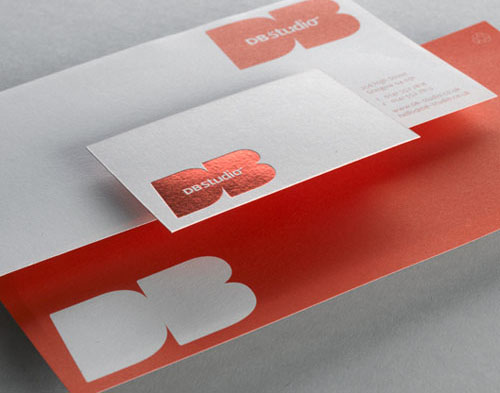 1.foil business card