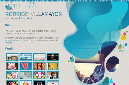 blue colored websites for inspiration