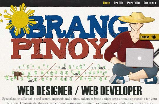 big typography in web design
