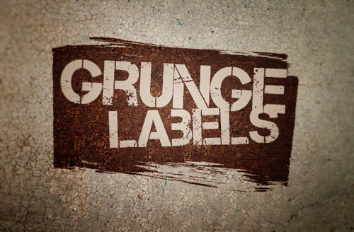 ree Vector Grunge Labels