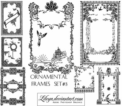 100+ Free Photoshop Frame Brushes To Decorate Your Designs | Designbeep