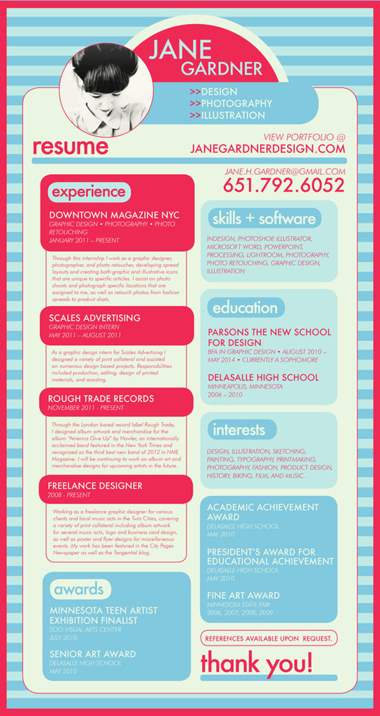 showcase of inspiring resume designs  u2013 2012