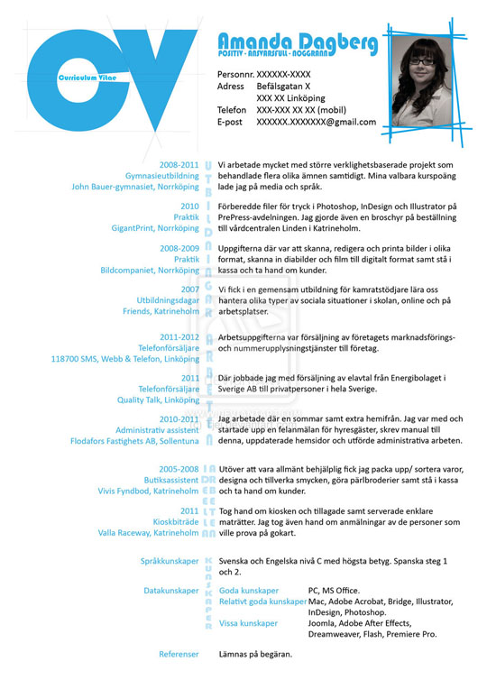 Creative Resume Design  Resume Design Inspiration