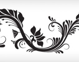 1.floral and swirl vectors
