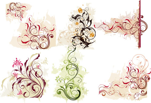 Free Swirl Curly And Floral Vectors For Designers Designbeep