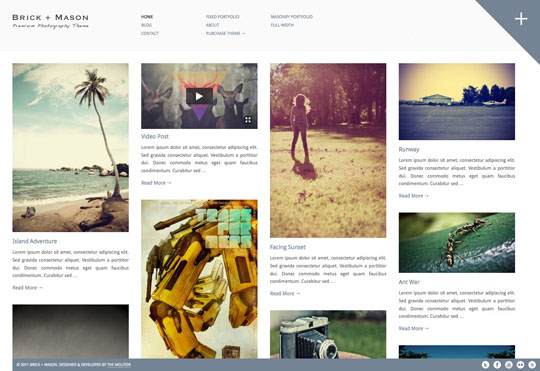 pinterest wordpress theme