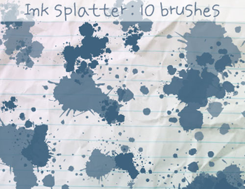 photoshop splatter brushes