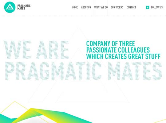 inspirational one page websites