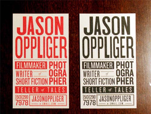 62 Cool Examples Of Big Typography In Business Card Design ...