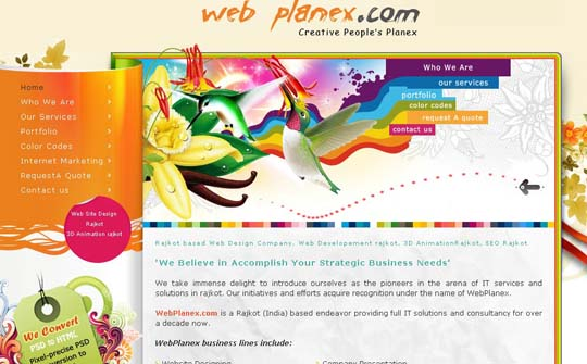 orange color websites