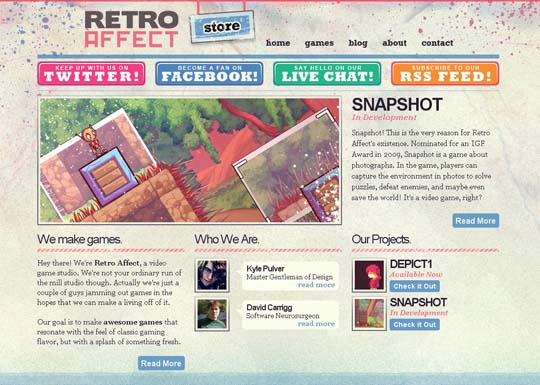 retro websites