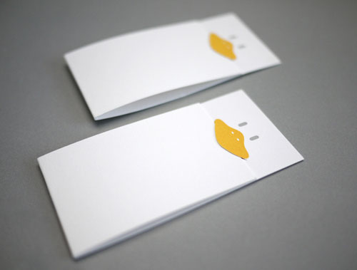 1.folded business cards