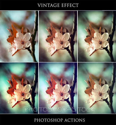 1.vintage photoshop actions