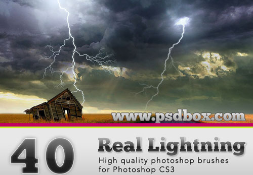 photoshop lightning brushes