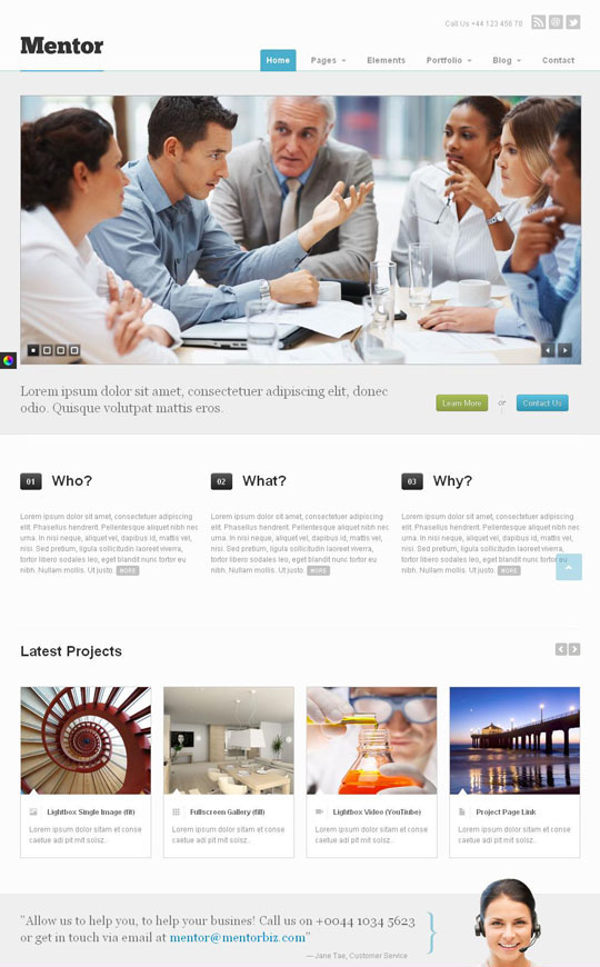 responsive html5 website templates