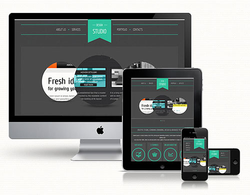 1.responsive web template