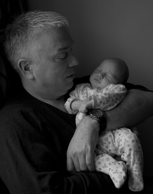 father and baby photos