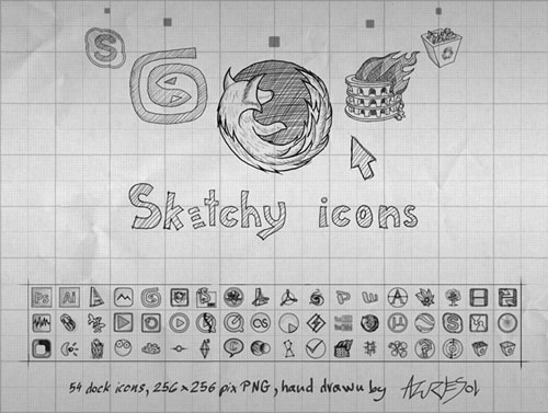 free hand drawn icons
