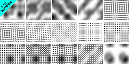 pixel patterns for photoshop