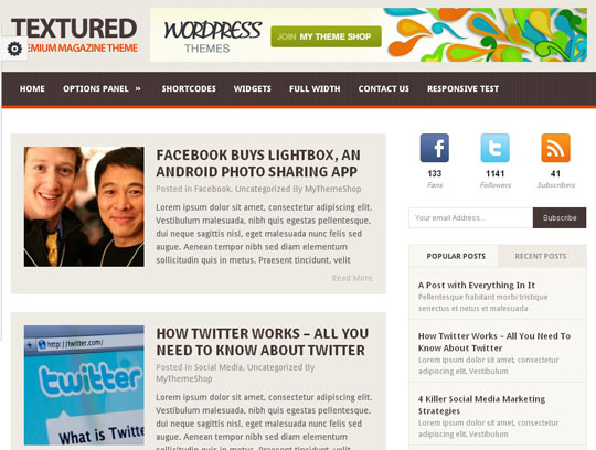 wordpress themes 2012